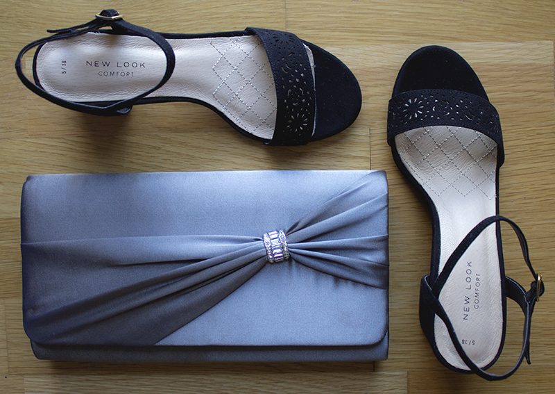 graduation ball shoes and clutch
