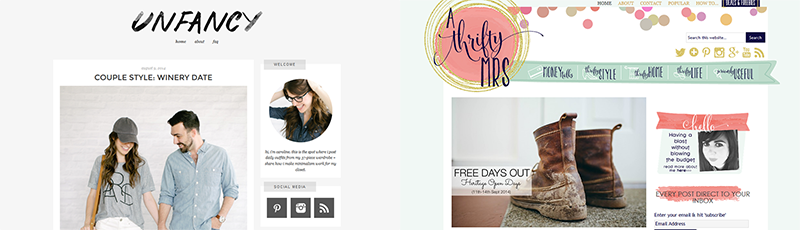 Goodbye Blog in the Spotlight Unfancy and A Thrifty Mrs