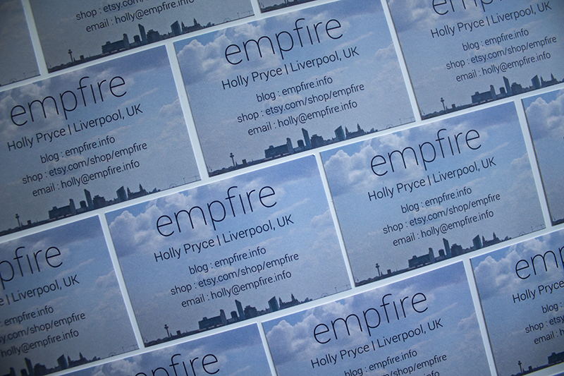 empfire business cards from Vistaprint