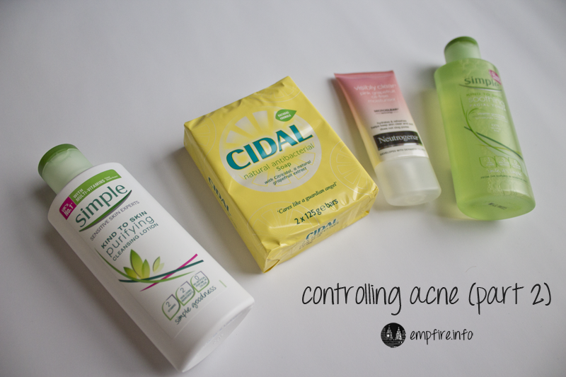 Controlling acne