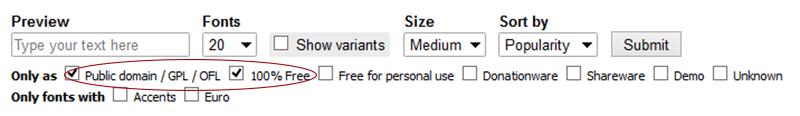 Dafont 100% free fonts