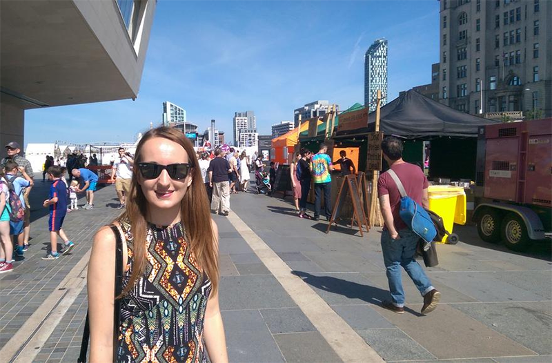 Holly at the Liverpool Loves festival