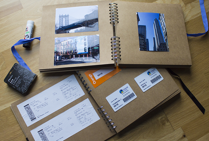 New York and Med cruise scrapbooks