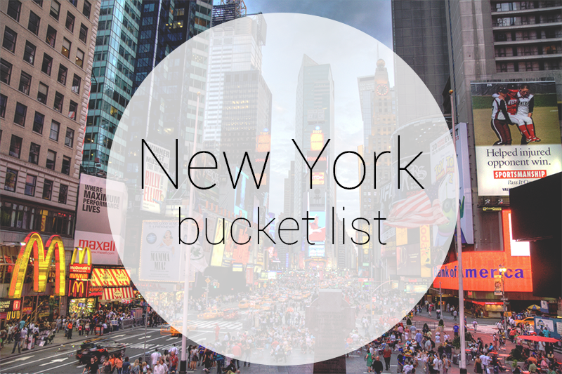My New York Bucket List