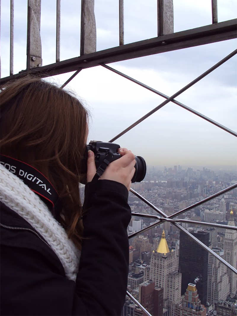 Holly Pryce at the top of the Empire State Building