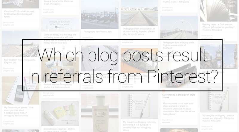 Which blog posts result in referrals from Pinterest?