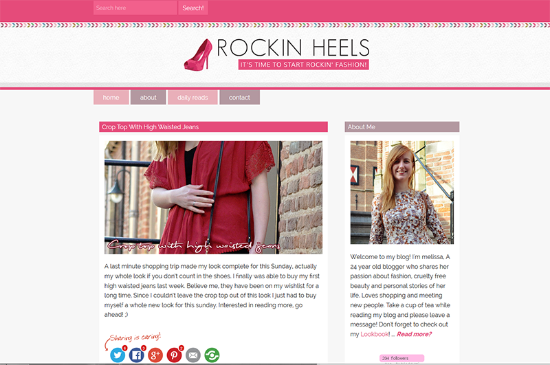 Blog in the spotlight Rocking Heels