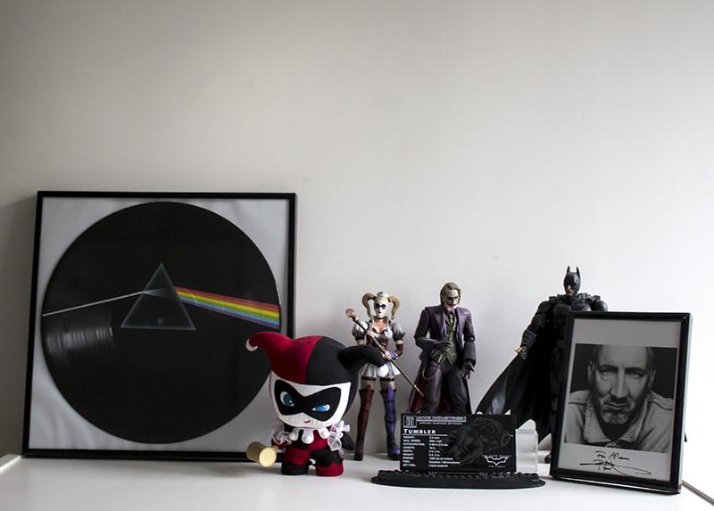 Shelf of awesome stuff