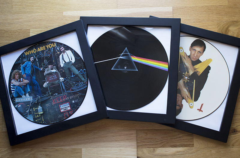 Vinyl records in frames