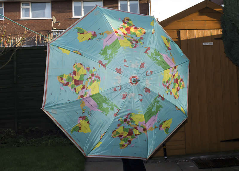 Map of the world umbrella