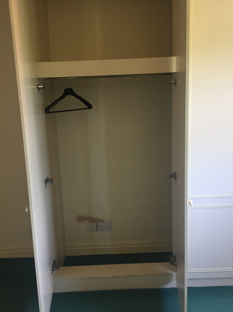 The built in wardrobes we removed from our house