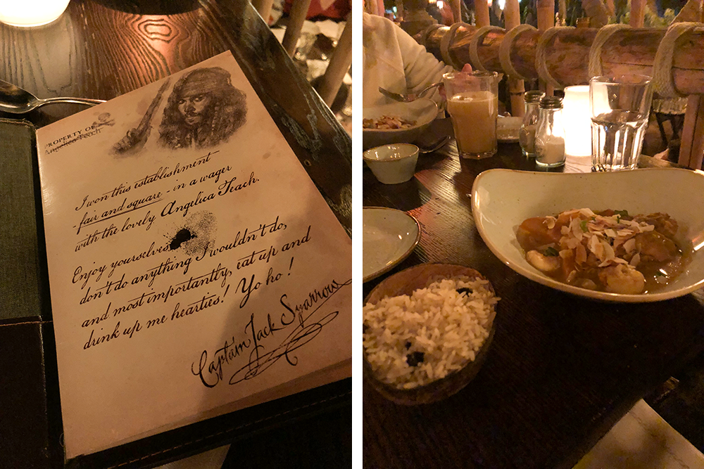Food at Captain Jack's at Disneyland Paris | Empfire